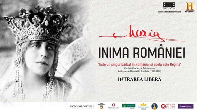 """Documentarul istoric """"Maria-Inima României"""", vizionare gratuitã pentru publicul din Petrosani"""