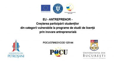 Colaborarea cu liceele în vederea realizării unor activități prevăzute în cadrul Proiectului EU-Antreprenor