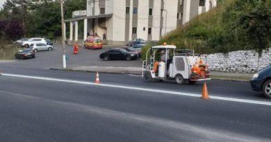 Lupeni: Marcaje rutiere și accesibilizarea trecerilor de pietoni