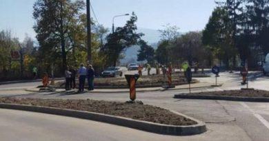 Investiție finalizată: giratoriul de pe DN 66, zona Dărănești