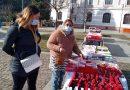 Târg de mărțișoare la Petroșani. O vânzătoare vine de 3 decenii