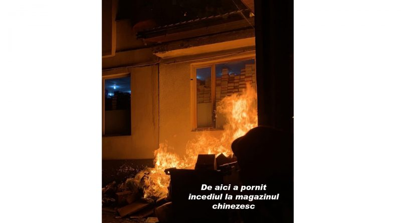 De la ce a pornit incendiul la magazinul chinezesc?