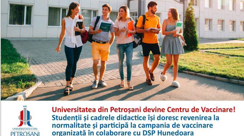 Universitatea din Petroșani devine centru de vaccinare pentru studenți